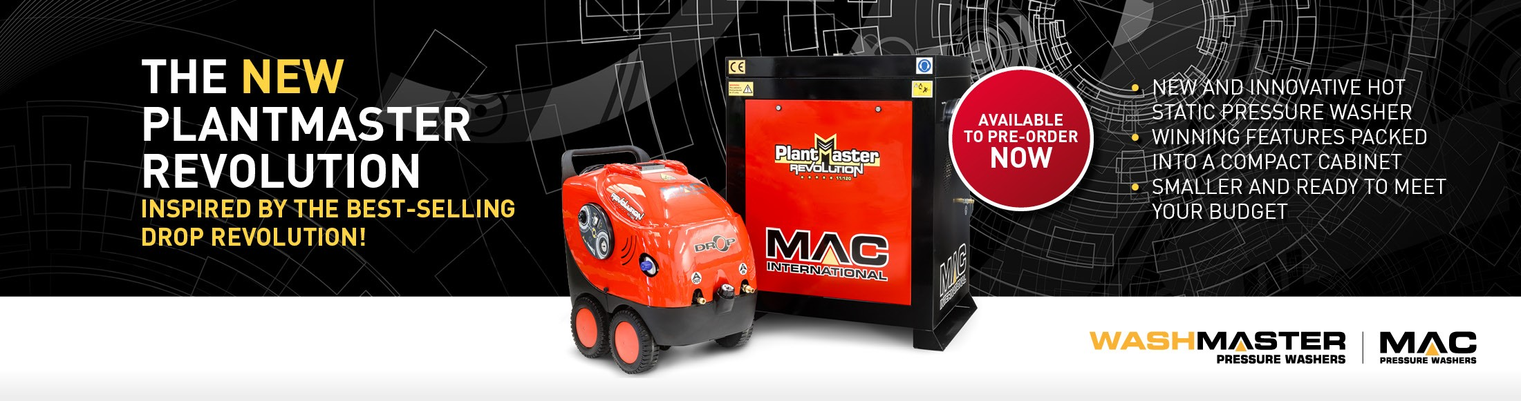 The New MAC Plantmaster Revolution Hot Static Pressure Washer