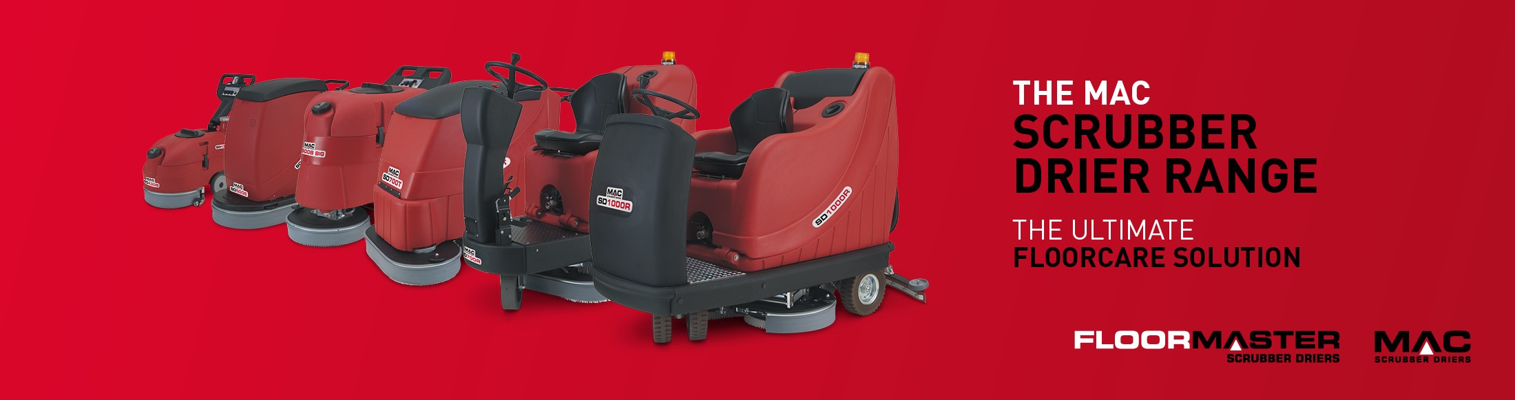 The MAC Scrubber Drier Range - The ultimate floorcare solution