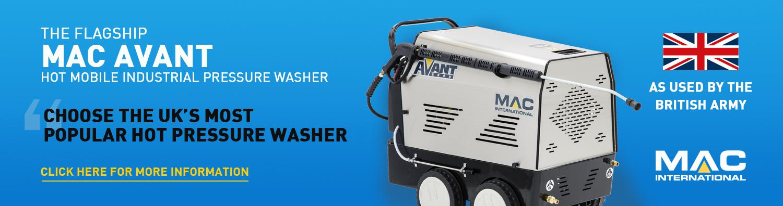 The MAC Avant Hot Mobile Pressure Washer Range