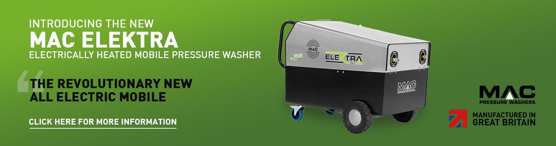 The New MAC Elektra Mobile Electrically Heated Pressure Washer